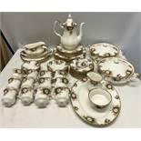 Royal Albert Celebration pattern dinner & tea set. 58 pieces.