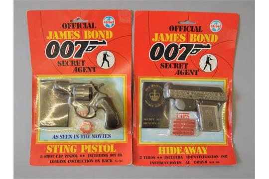 James Bond 007  Two Coibel James Bond sets: Sting Pistol set