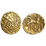 Celtic, Atrebates and Regni, uninscribed coinage, (c.60-20 BC), gold Quarter Stater, 1.28g, '