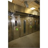 Hobart S/S Rotating Double Rack Oven, S/N 24-1012741, Input Rating 290,000 BTU/Hr. with Digital
