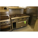 2009 Vulcan 8-Burner Portable Gas Range/Oven, Model 48C-8BN, S/N 650106170, Input 272,000 BTU, 120