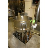 J. C. Pardo & Sons 100 Gal. S/S Kettle, S/N 8101-2, 100 psi @ 338 Degrees and 100 psi @ - 20