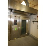 Hobart S/S Rotating Double Rack Oven, S/N 24-10126381, Input Rating 300,000 BTU/Hr. with Digital