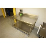 """Aprox. 59-1/2"""""""" L x 35-1/2"""""""" W x 40"""""""" H S/S Table with Rounded Edges and S/S Bottom Shelf including"""