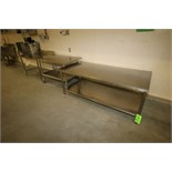 """Assorted S/S Tables - Aprox. 72"""" L x 36' W x 29"""" H, Aprox. 48"""" L x 30"""" W x 33"""" H (Portable) and"""