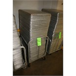 """S/S Pans - Aprox. 24-1/2"""""""" L x 17"""""""" W x 1"""""""" Deep with Portable Cart"""