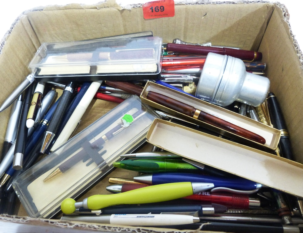 A collection of pens and propelling pencils