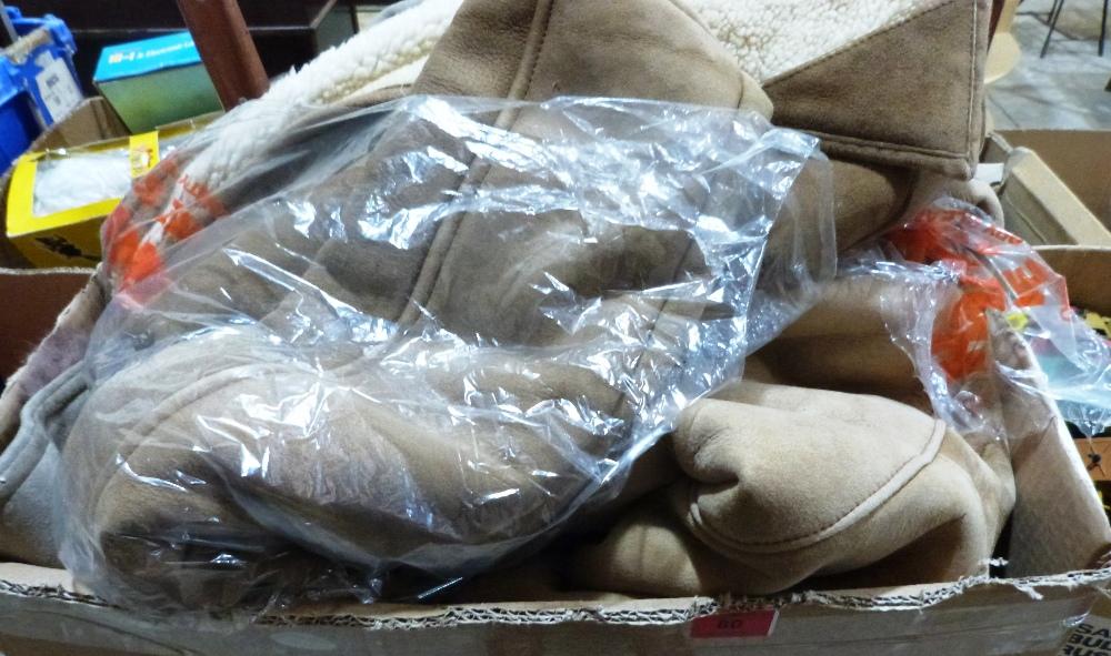 A box of vintage coats etc.