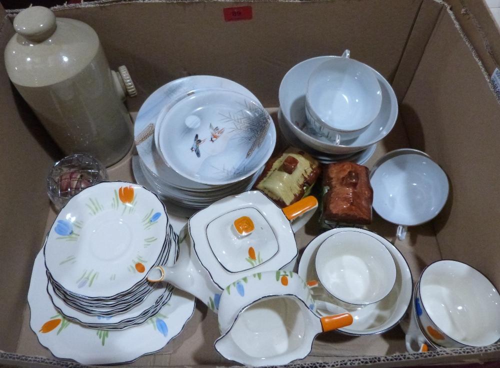 Three boxes of miscellaneous teaware