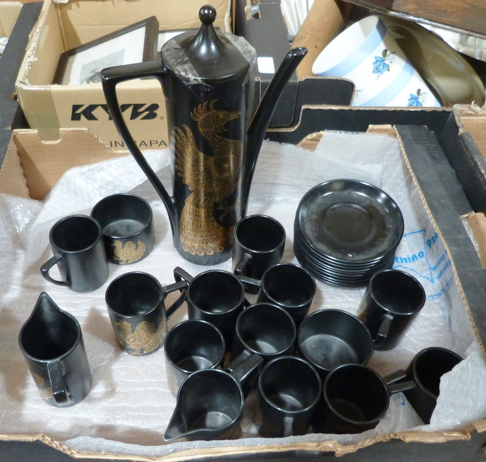 Lot 55 - A Portmeirion 'Phoenix' coffee service designed by John Cuffley. 26 pieces