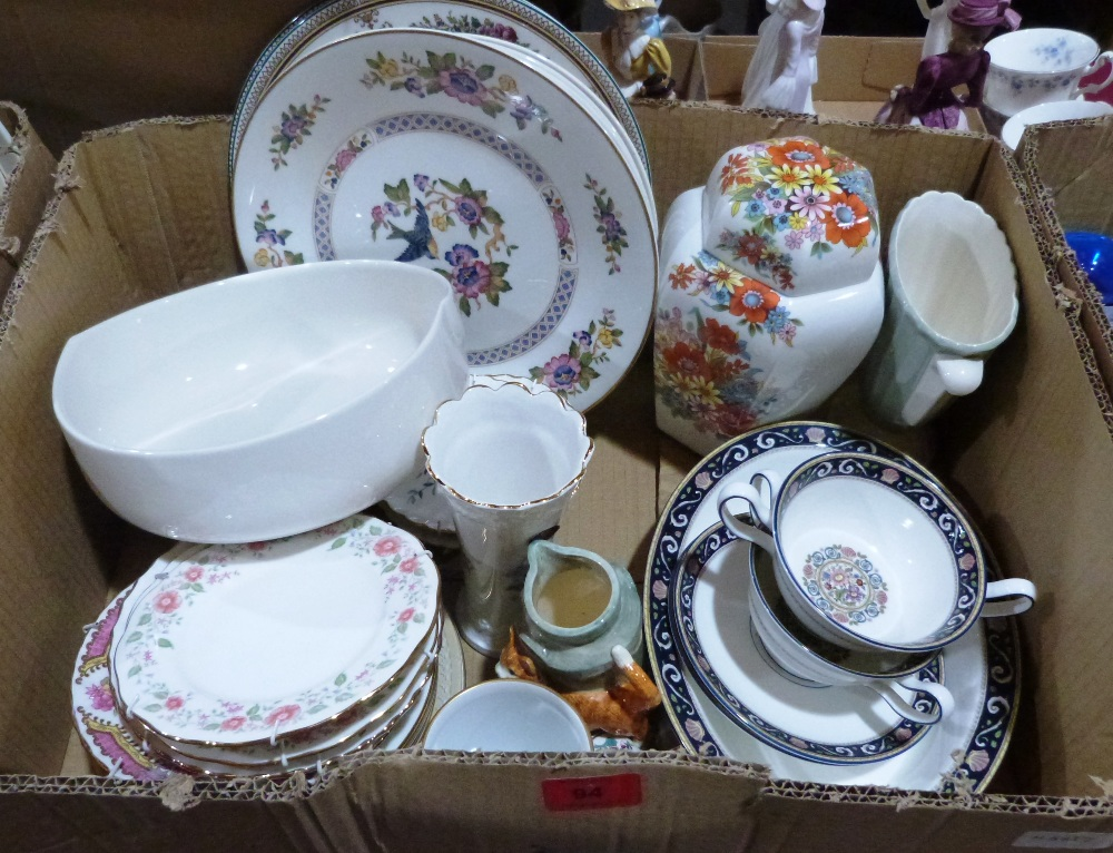 Two boxes of miscellaneous ceramics