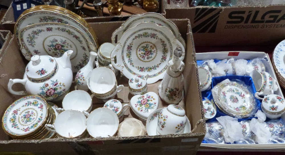 A collection of Coalport 'Ming Rose'