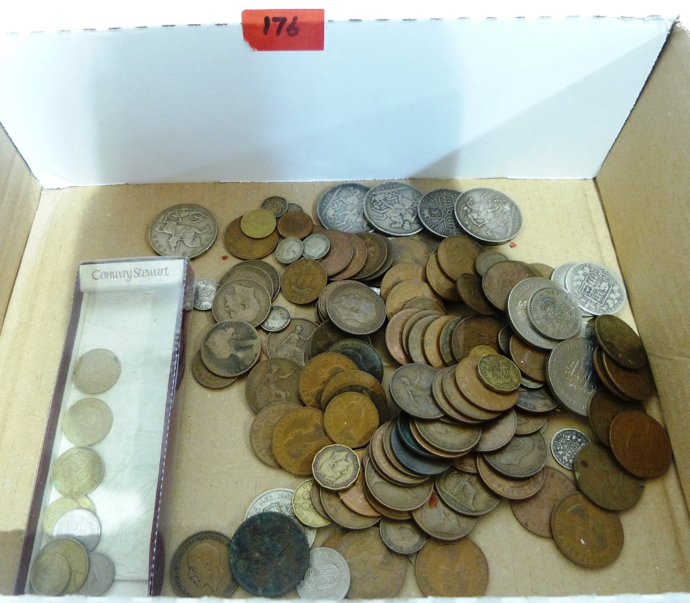 A collection of English coinage