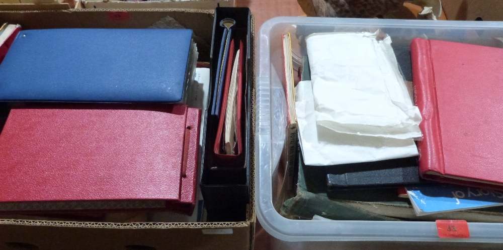 Lot 33 - Two boxes of stamps and ephemera