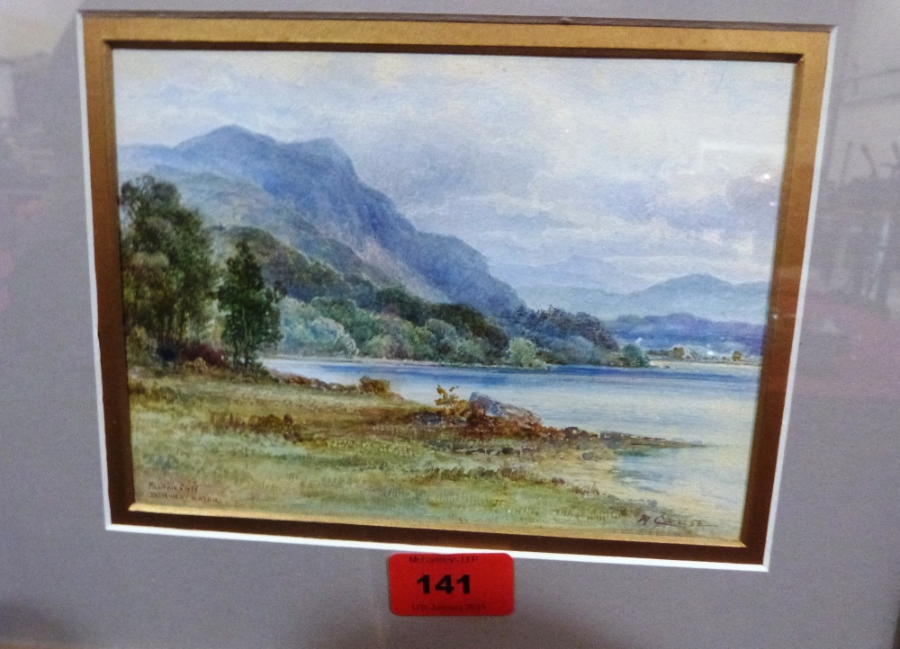 Lot 141 - MALCOLM CROUSE. IRISH 20TH CENTURY Falcon Cliff, Derwent Water Signed and inscribed. Watercolour 5
