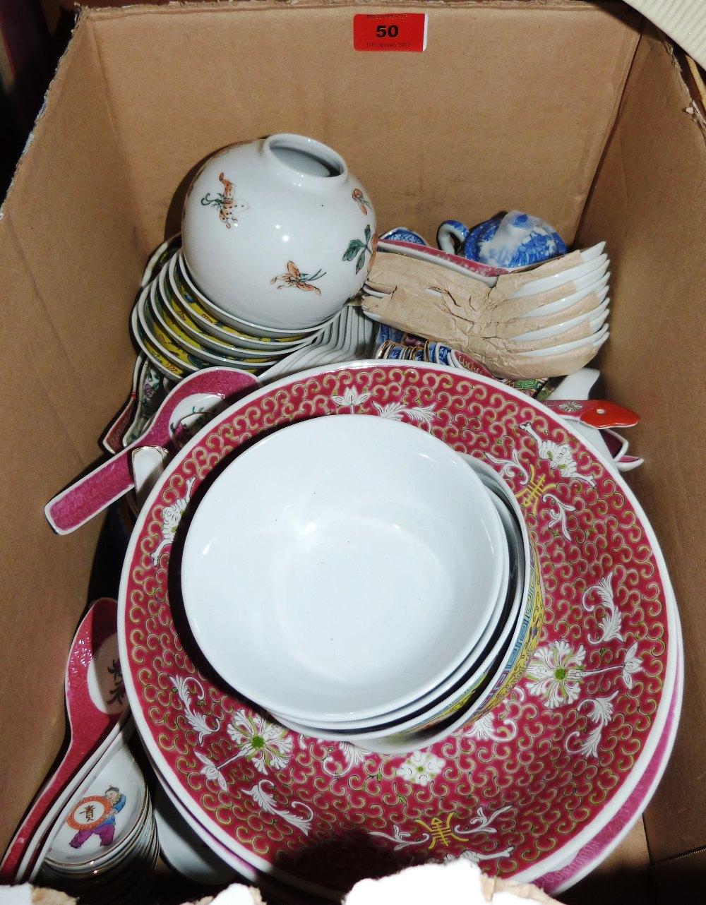 Lot 50 - A box of oriental ceramics