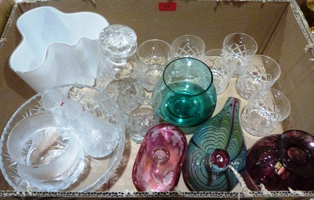 A collection of studio and other glassware