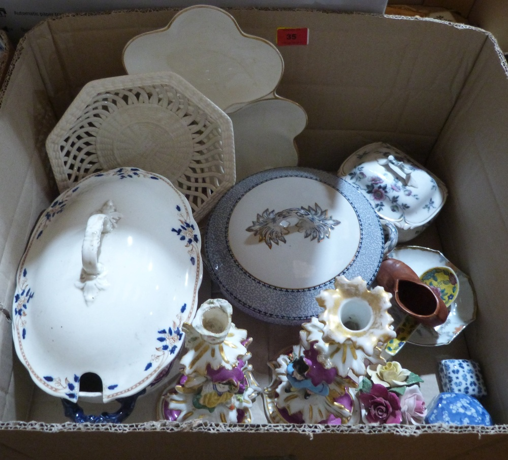 Lot 35 - Two boxes of miscellaneous ceramics