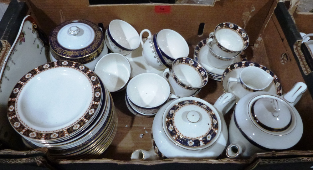 Lot 54 - A box of miscellaneous teaware