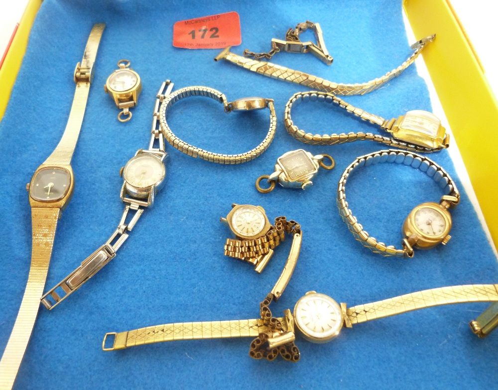 Lot 172 - A collection of various lady's wristwatches