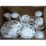 A Colclough 28 piece Ivy pattern tea service to include the cakestand