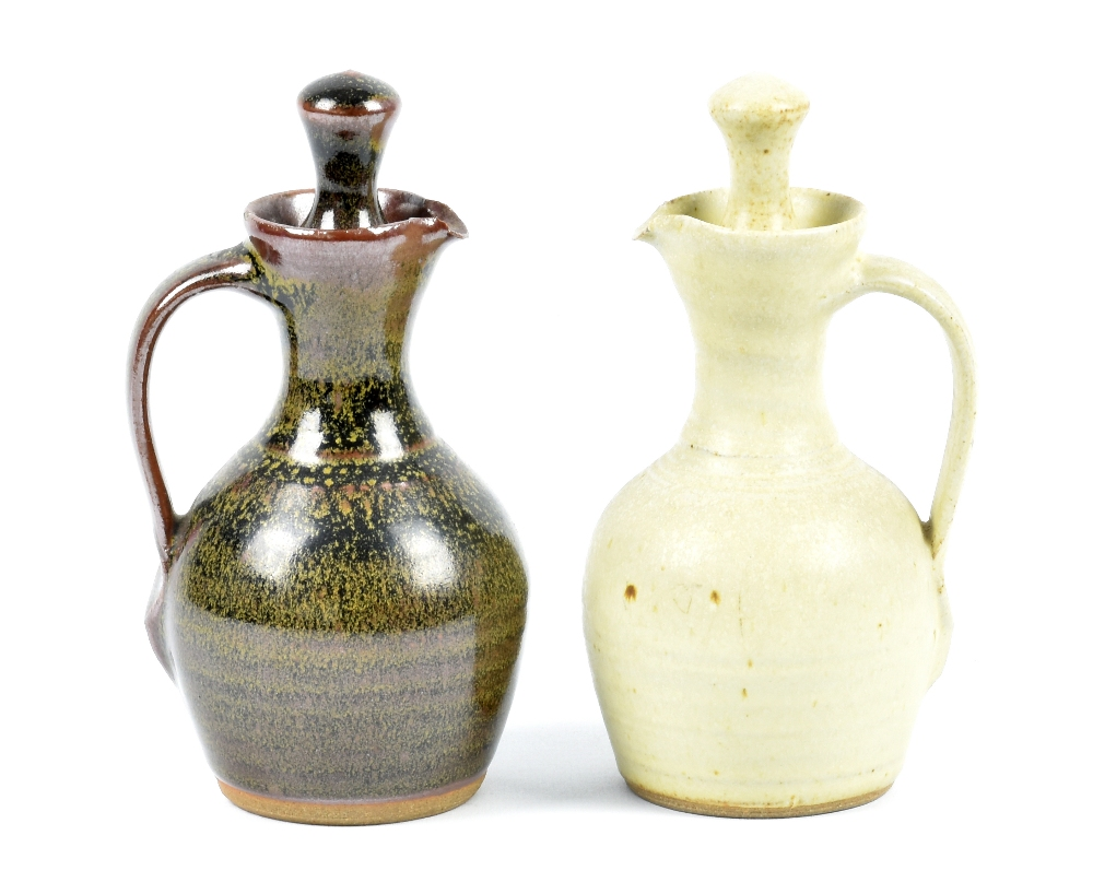 Lot 116 - SID TUSTIN (1914-2005) for Winchcombe Pottery; a two piece stoneware oil and vinegar cruet set,