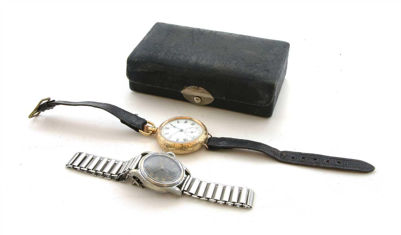 Lot 55 - A 15ct gold Waltham ladies pocket watch,