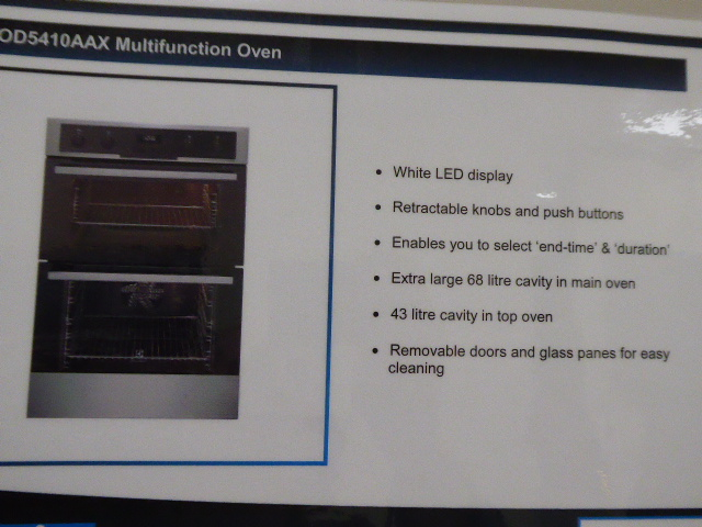 Lot 30 - Electrolux EOD5410AAX multi-function double door oven (Located at the Lincoln saleroom)