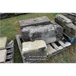 *PALLET OF THREE MIXED STONE SECTIONS