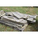 *PALLET OF APPROX TWELVE BALLUSTRADE STONE SECTIONS, VARIOUS SIZES