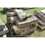 *PALLET OF SANDSTONE RADIUS CURVES, APPROX 40 LINEAR FT, VARIOUS SIZES