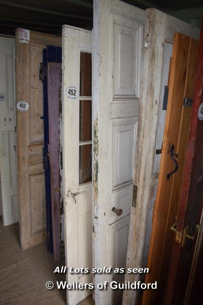 Lot 452 - *FIVE MIXED INTERNAL AND EXTERNAL DOORS