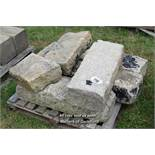 *PALLET OF GRANITE KERBS, APPROX 12 LINEAR FT, VARIOUS SIZES