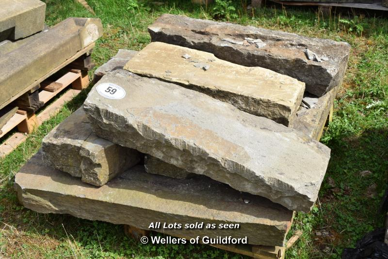 *PALLET OF SANDSTONE KERBS, APPROX 30 LINEAR FT, VARIOUS SIZES