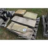 *PALLET OF SEVEN MIXED STONE SECTIONS