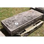 *VERY LARGE SANDSTONE HAND CARVED PIER CAP, APPROX 1600 X 650