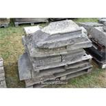 *PALLET OF APPROX TEN LIMESTONE BAND COURSE, VARIOUS SIZES