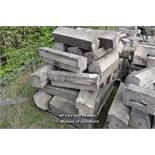 *PALLET OF SANDSTONE WINDOW SILL/COPING, APPROX 50 LINEAR FT, VARIOUS SIZES