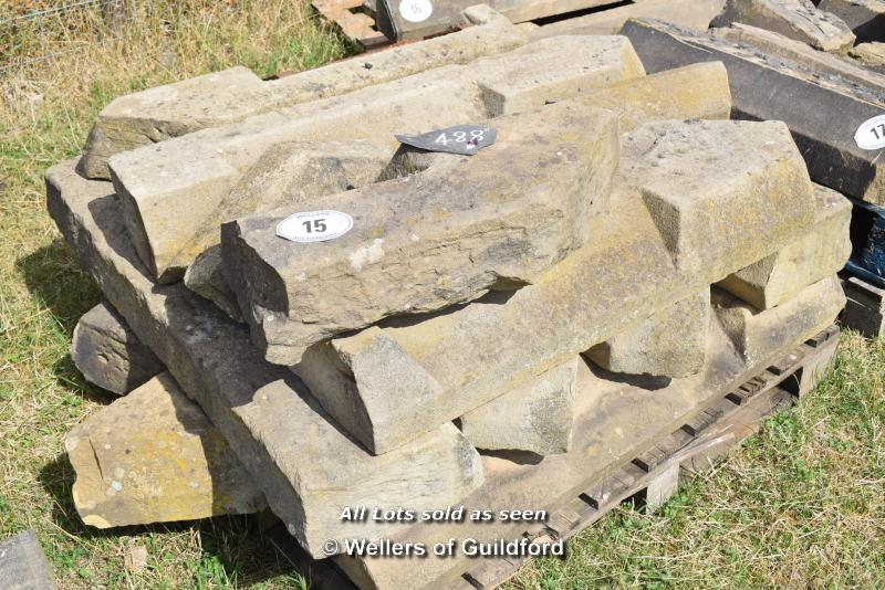 Lot 15 - *PALLET OF APPROX TEN MIXED STONE SILLS, VARIOUS SIZES