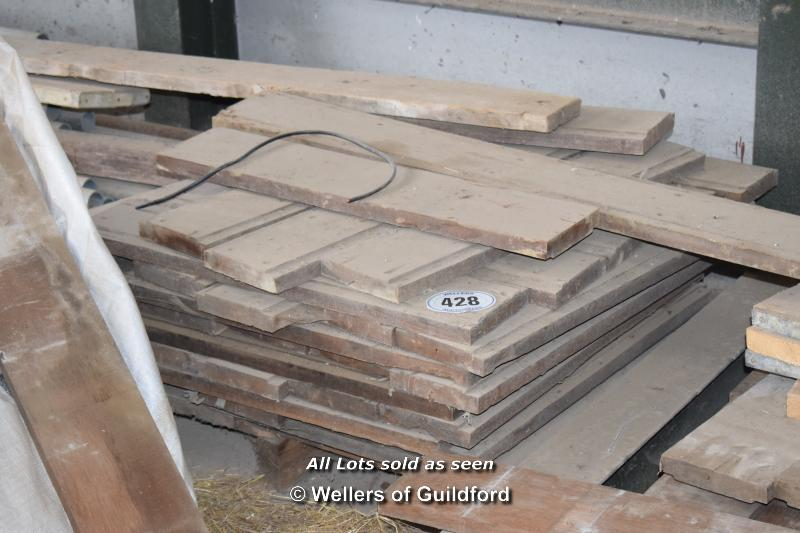 Lot 428 - *PALLET CONTAINING A LARGE QUANTITY MAHOGANY FLOORING