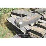 *PALLET OF APPROX TEN LIMESTONE COPING/BAND COURSE, VARIOUS SIZES