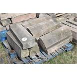 *PALLET OF SANDSTONE WINDOW SILLS/COPING, APPROX 25 LINEAR FT, VARIOUS SIZES