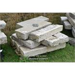 *PALLET OF NINE GRANITE KERBS, APPROX 35 LINEAR FT, VARIOUS SIZES