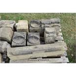*PALLET OF EIGHT DECORATIVE SANDSTONE SECTIONS, VARIOUS SIZES