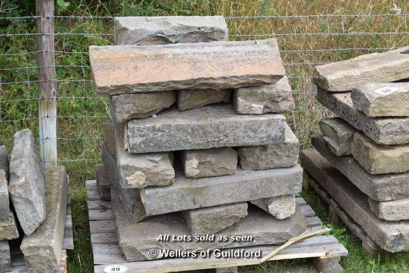 Lot 49 - *PALLET OF SANDSTONE KERBS, APPROX 45 LINEAR FT, VARIOUS SIZES