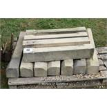 *PALLET OF ELEVEN LIMESTONE SILLS, APPROX 27.5 LINEAR FT, MAINLY 830 LONG