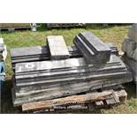 *PALLET OF APPROX EIGHT STONE SECTIONS, VARIOUS SIZES