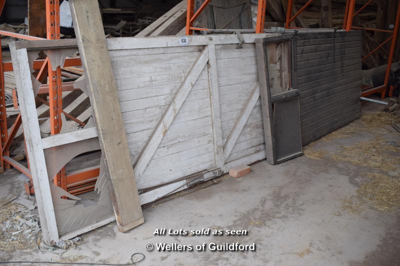 Lot 430 - *PAIR OF VERY LARGE BARN DOORS, EACH 1375 X 3000, TOTAL WIDTH 2750