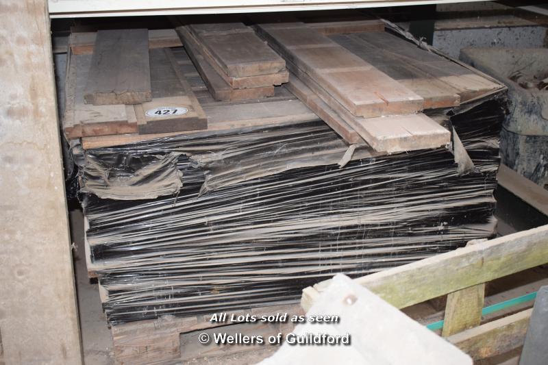Lot 427 - *PALLET CONTAINING A LARGE QUANTITY MAHOGANY FLOORING