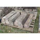 *PALLET OF SANDSTONE WINDOW SILLS/COPING, APPROX 18 LINEAR FT, VARIOUS SIZES